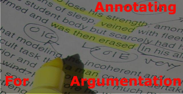 Annotating for Argumentation