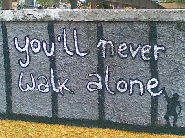 CC 3.0 Walk alone. flckr.com